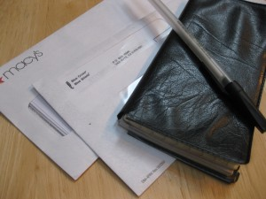 Checkbook and bills