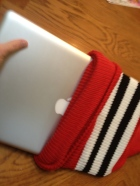 Hockey sock Laptop sleeve